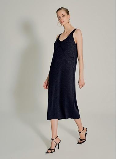 NGSTYLE Askılı Triko Elbise Siyah